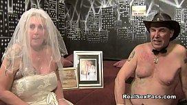 Old fat filthy bride...