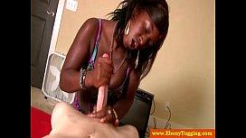 Amateur black hottie tugging...