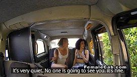 Lesbian female fake taxi...