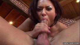 Super hot brunette gets...