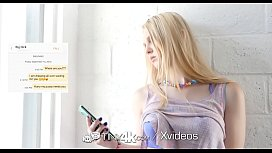 Tiny4k Sexting blonde Lily...