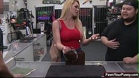 Blonde college babe fucks...