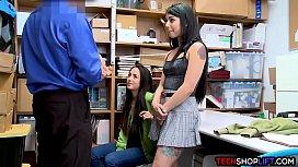 Latina stepsisters get caught...
