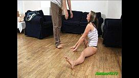Big tits gymnast gets...