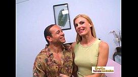 Skinny blonde MILF enjoys...