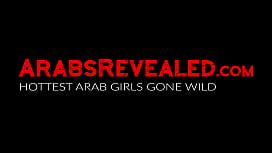 Beautiful arab babe blows two big dicks to earn extra