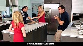 FamilyStrokes - Step Sister Sucks An ...