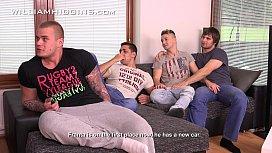 Raw four guys Wank...