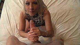 Sexy blonde Jessie Volt...