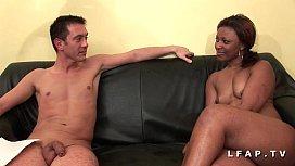 Bonne black francaise grave sodomisee et prise en double pour son casting adultwap