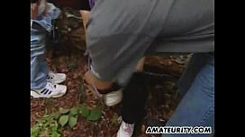 Amateur teen girlfriend outdoor...