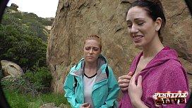 Amazing Hiking POV Threesome...