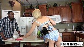 Nadia White Interracial Threesome...