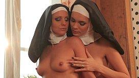 Catholic nuns licking pussy...