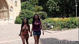 Two big boobs amateur sluts take turns fucking big cock