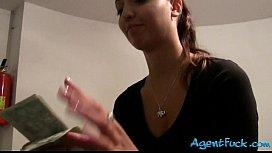 Amateur brunette chick Casey...
