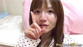 Real japan teen peeing
