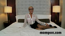 Hot blonde milf gets...