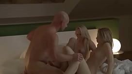 seductively erotic blondes FFM threesome