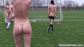 Lustful sport lesbians masturbating...