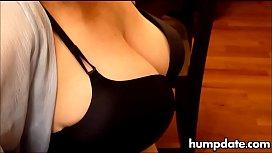 Hot babe in lingerie...