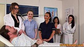 CFNM nurses cocksucking patient in group pornhiub