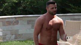 Couple seduces Hungarian babe...