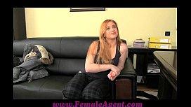 FemaleAgent Curvaceous redhead in...