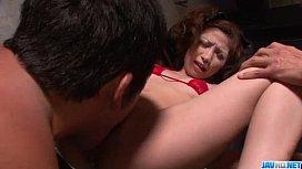 Tsubasa Aihara shows off...
