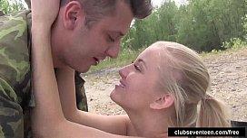 Blonde teen Cayla take cock outdoors pornsland