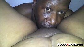 Black mature couple oral...