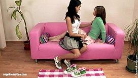 Hot lesbian lovers Jackie and Kay ha ...