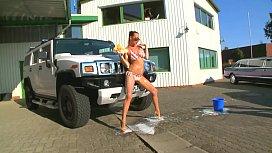 Hot chicks at car...