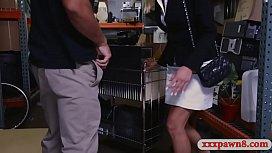 Blondie milf nailed by horny pawn keeper