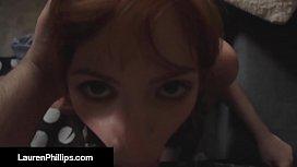 Horny RedHead Lauren Phillips...