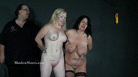 Two amateur bdsm slaves...