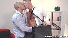 Gay uniform hunks shoot...