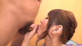 Aya Eikura jizzed on tits after sucking the cock good - More at Slurpjp.com