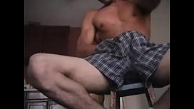 Nude latino guy shows...