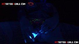 BlackWidow Blacklight solo masturbation...