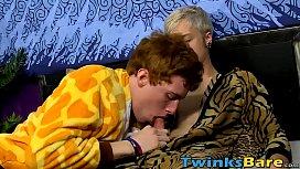Cute redhead twink gets...