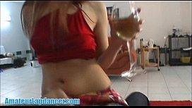 Wild redhead teen lapdances...