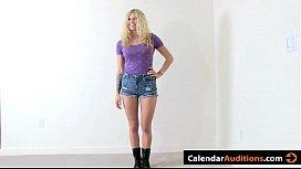 Two Amateur Hot Blondes Attack at Calendar Audition videosxxxputas