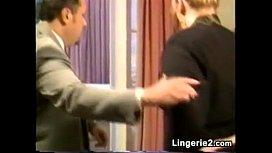 Blonde Woman Being Spanked...