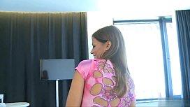 Hot model pussy spanking...
