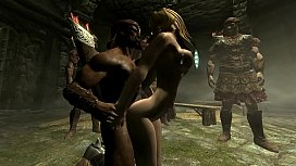 Skyrim - Imperial soldiers gangbang...