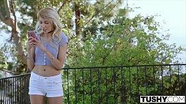 TUSHY Blonde Teen Gets...