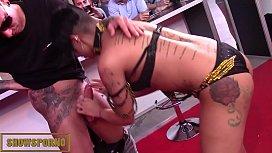 Tattoed brazilian brunette fucking...