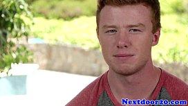 Muscular redhead gay hunk...