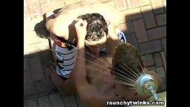 Horny Jocks Outdoor Pool...